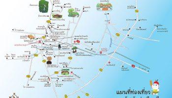 แผนที่จังหวัดปราจีนบุรี